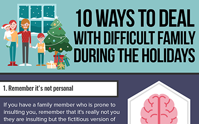 10 Ways to Deal with Difficult Family During the Holidays [infographic]