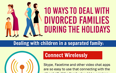 10 Ways to Deal with Divorced Families During the Holidays [infographic]