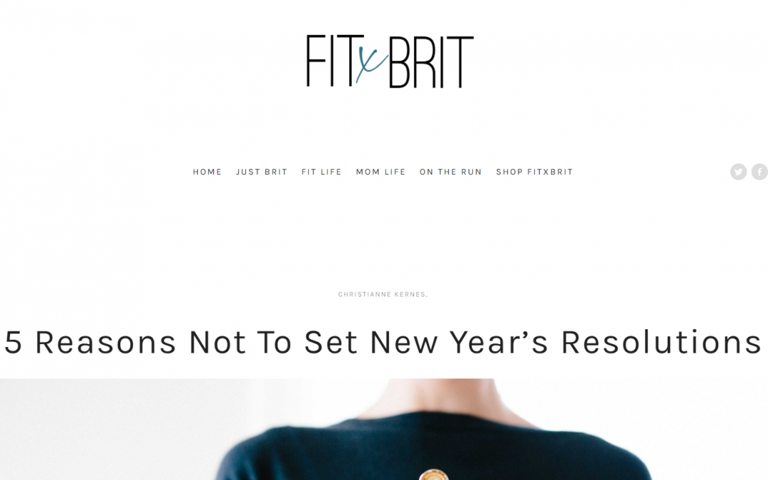 5 Reasons Not to Set New Year's Resolutions