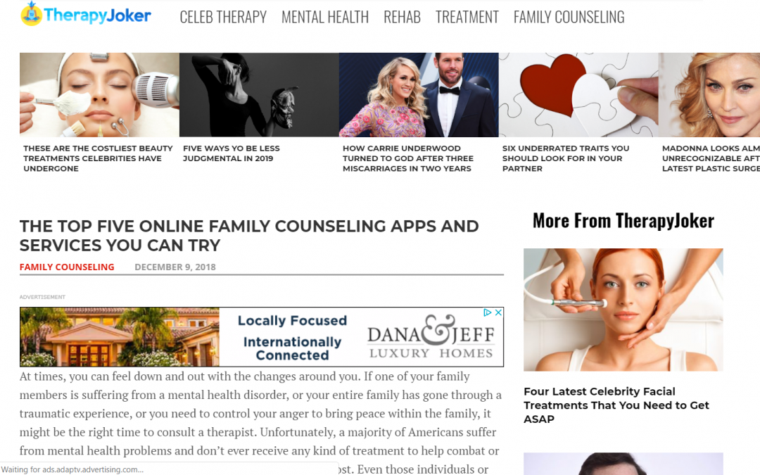 THE TOP FIVE ONLINE FAMILY COUNSELING APPS AND SERVICES YOU CAN TRY